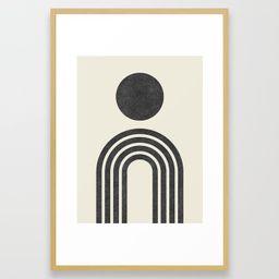 Mid century modern black Framed Art Print | Society6