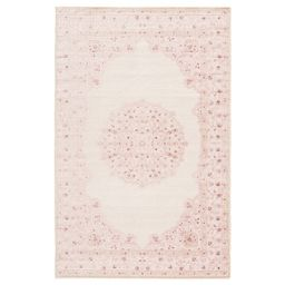 """Copper Grove Pascal Medallion Area Rug - 5' x 7'6"""" - Pink/White 
