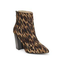 Vince Camuto Saavie 3 Bootie - Women's - Light Brown/Black Leopard Print | DSW