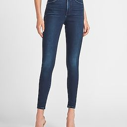 High Waisted Luxe Comfort Knit Faded Skinny Jeans   Express