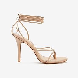 Strappy Heeled Thong Sandals   Express