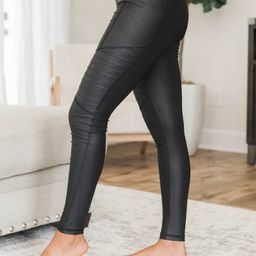 Runaway Hearts Black Moto Leggings   The Pink Lily Boutique