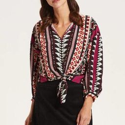 HENDRIX KNOTTED FRONT BLOUSE   Marie Oliver
