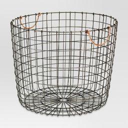 Extra Large Round Wire Decorative Storage Bin with Handles Copper - Threshold™   Target