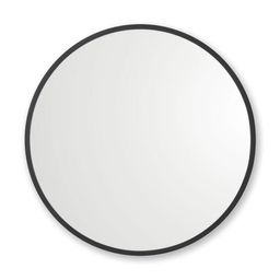 36 in. x 36 in. Rubber Framed Round Single Mirror in Black   The Home Depot