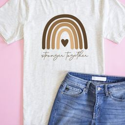 Stronger Together Tee Heather Prism Natural | The Pink Lily Boutique