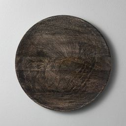 Distressed Wood Plate Charger Black - Hearth & Hand™ with Magnolia | Target