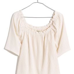 Pointelle Knit Peasant Top | Nordstrom