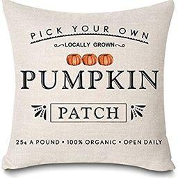 Kithomer Fall Pumpkin Patch Throw Pillow Covers Autumn Harvest Pillow Case 18 x 18 Inch Farmhouse... | Amazon (US)