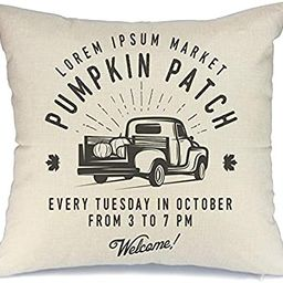 AENEY Fall White Pumpkin Throw Pillow Cover 18 x 18 for Couch Helloween Decorations Farmhouse Hom... | Amazon (US)