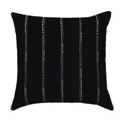 Carlo Black Pinstripe Polka Dot Pillow   Land of Pillows