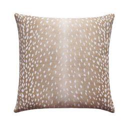 Fawn Beige Antelope Deer Print Linen Pillow   Land of Pillows
