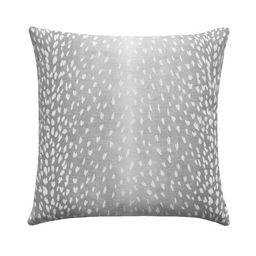 Grey Antelope Linen Fawn Deer Print Pillow   Land of Pillows