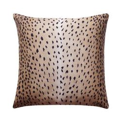 Classic Black Antelope Fawn Deer Print Linen Pillow   Land of Pillows