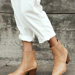 Vaylyn Beige Pointed-Toe Mid-Calf Boots | Lulus (US)