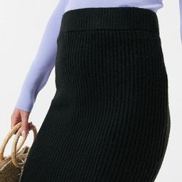 ASOS DESIGN fluffy midi skirt in black | ASOS (Global)