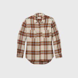 Women's Plaid Long Sleeve Button-Down Flannel Shirt - Universal Thread™ | Target