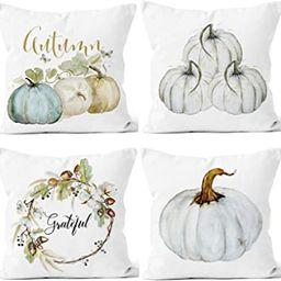LafyKoly Happy Halloween Pumpkin Decoration Cotton Blend Cushion Cover Set of 4 Fall Decor Thanks... | Amazon (CA)