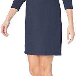 Amazon Essentials Women's Crewneck Long-Sleeve French Terry Fleece Above-the-Knee Dress | Amazon (US)