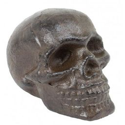 Cast iron Skull paper weight,shelf sitter,,collectable,goth,   Etsy (US)