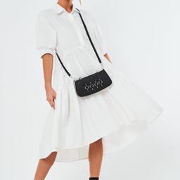White Extreme Oversized Smock Shirt Midaxi Dress | Missguided (US & CA)