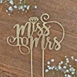 Miss to Mrs Cake Topper, Bridal Shower Topper, Bride to Be, Miss to Mrs, Bridal Shower Decoration, W   Amazon (US)
