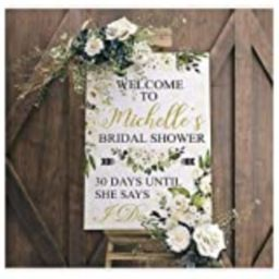 Boho Bridal Shower Decorations, Bohemian Welcome Sign 24x18, 36x24 and 48x36, Poster, Bridal Shower    Amazon (US)