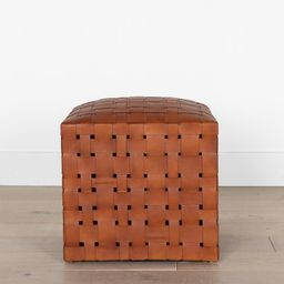Ackley Leather Ottoman | McGee & Co.
