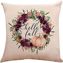 Fall Pumpkin Harvest Decorative Double Side Print Throw Pillow Covers Set of 4, Munzong Autumn Th... | Amazon (US)