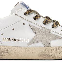 SSENSE Exclusive White Leopard Superstar Sneakers | SSENSE