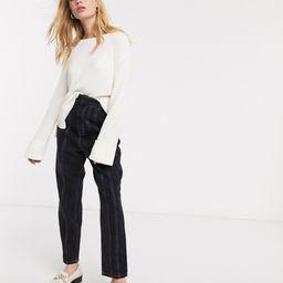 Weekday - Danna - Off-white sweater med rund hals-Creme | ASOS (Global)