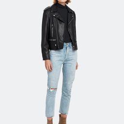 Classic Faux Leather Biker Jacket | Verishop