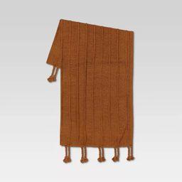 "50""x60"" Braided Tassel Knit Throw Blanket - Threshold™   Target"