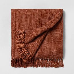Chunky Stripe Fringe Throw Blanket - Hearth & Hand™ with Magnolia   Target