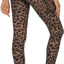 Varsoul Yoga Pants for Women with 4 Pockets High Waisted Printed Workout Leggings | Amazon (US)