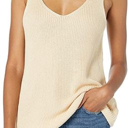 The Drop Women's Claire Double V-Neck Textured Rib Sweater Tank | Amazon (US)