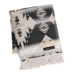 Sackcloth & Ashes Black And Cream Diamond Throw Blanket - Wool by World Market   World Market