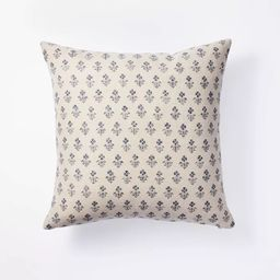 Floral Block Print Throw Pillow - Threshold™ designed with Studio McGee   Target