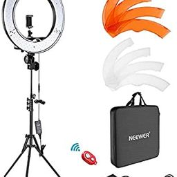 """Neewer Ring Light Kit:18""""/48cm Outer 55W 5500K Dimmable LED Ring Light, Light Stand, Carrying Bag... 