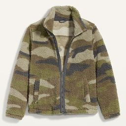 Cozy Sherpa Zip-Front Jacket for Women   Old Navy (US)