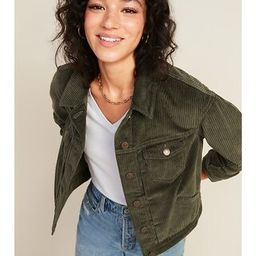 Cropped Corduroy Jacket for Women   Old Navy (US)