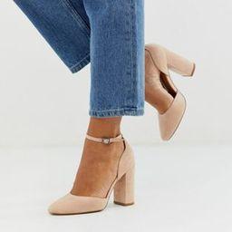 ASOS DESIGN Pleasant high block heels in taupe | ASOS | ASOS (Global)