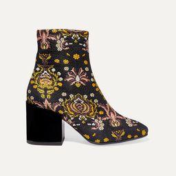 Dries Van Noten - Floral-jacquard Ankle Boots - Black | Net-a-Porter (US)