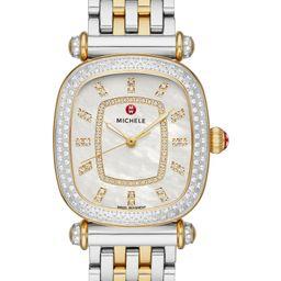 Caber Isle Diamond Dial Diamond Two-Tone Watch Head & Bracelet, 32mm | Nordstrom