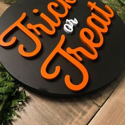 Trick or Treat sign 3DWall decor trick or treat 3D Wall   Etsy   Etsy (US)