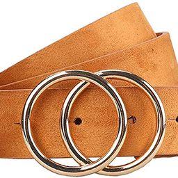 Earnda Women's Leather Belt Fashion Soft Faux Leather Waist Belts For Jeans Dress   Amazon (US)