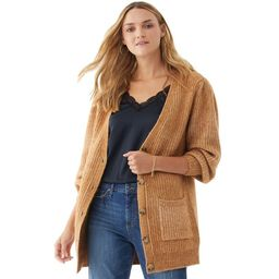 Scoop Women's Grandpa Sweater with Puff Sleeves | Walmart (US)