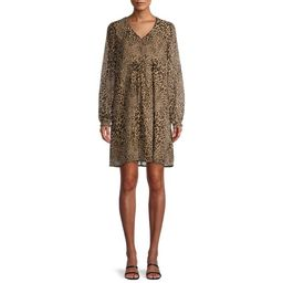 Time and Tru Women's Long Sleeve Peasant Dress | Walmart (US)