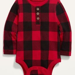 Unisex Henley Thermal Bodysuit for Baby | Old Navy (US)