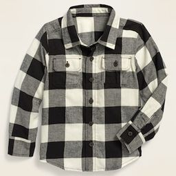 Long-Sleeve Plaid Pocket Utility Shirt for Toddler Boys | Old Navy (US)